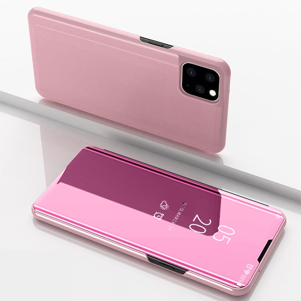 For iPhone 11 pro max Mirrored Hard Plastic+Leater case