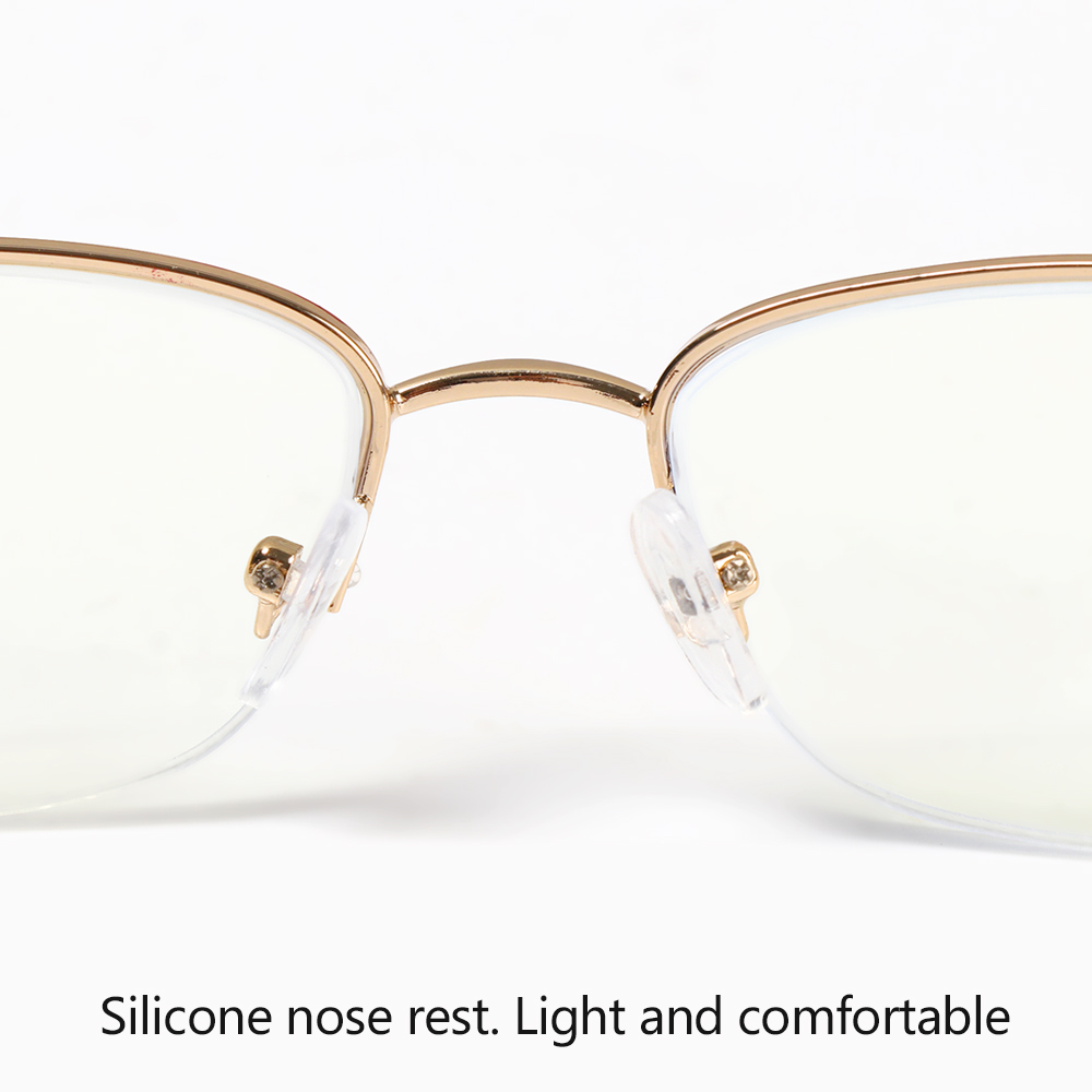 💜LAYOR💜 Luxury Anti Blue Light Reading Glasses Radiation Protection Metal Frame Eyewear Presbyopic Eyeglasses Anti-UV Women Fashion Transparent Anti-fatigue Computer...