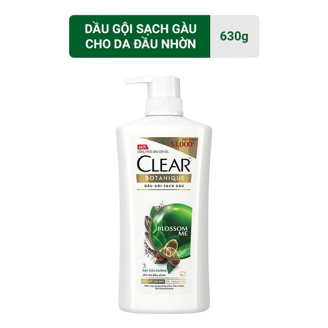 Dầu gội sạch gàu CLEAR Botanique 3 hạt siêu dưỡng