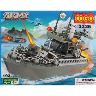 ( 193 PCS) W083824-Đồ chơi Lego Tàu thủy chiến đấu 3325/36