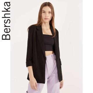 [CÓ VIDEO] Áo khoác vest nữ dáng blazer Bershka màu đen thời trang công sở cao cấp , Fula