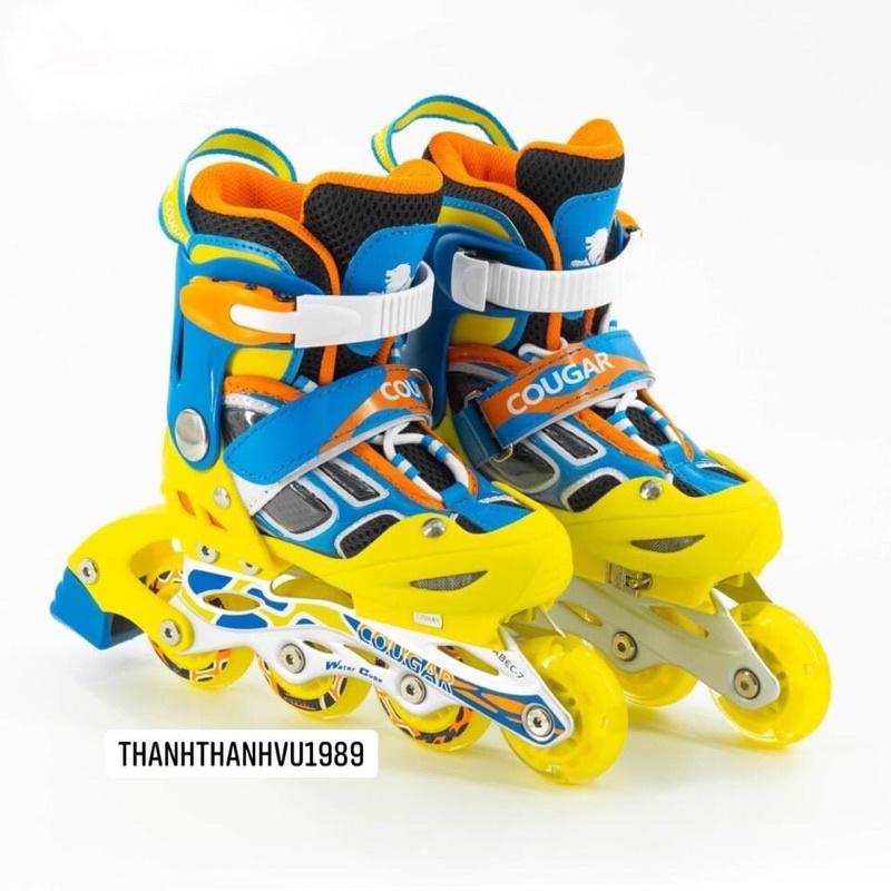 |Chính hãng| Giày trượt patin trẻ em phát sáng Cougar 835LSG