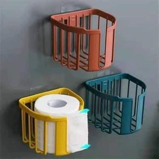 Giá nhựa đựng đồ, đựng giấy vệ sinh dính tường thông minh