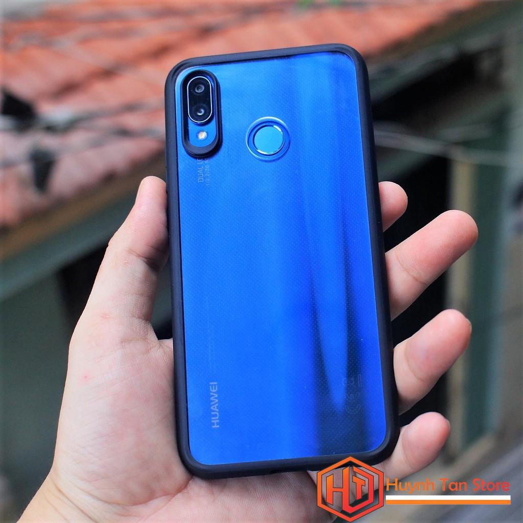 Ốp lưng Huawei Nova 3E _ Ốp cao su trong viền màu chính hãng cao cấp (màu đen)