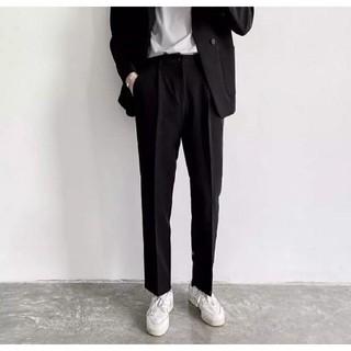 Quần baggy nam, quần âu phong cách Hàn Quốc (đen,Xám) ống rộng suông co giãn thoải mái, phù hợp đi học, đi làm