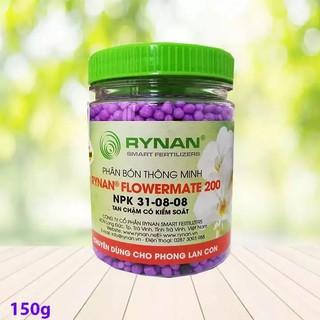 Phân Tan Chậm RYNAN FLOWERMATE 200 lọ 150g, Phân Bón Thông Minh NPK 31-08-08 dùng cho Bonsai, Phong Lan thumbnail