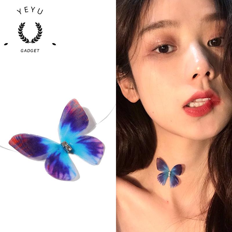 [Mã FASHIONCB82 hoàn tối đa 30K xu đơn 50K] Dây chuyền mặt hình bướm xinh xắn cho nữ