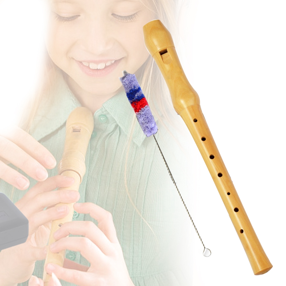 Wood Recorder Instruments Flute Long Educational Tool 8-Hole Musical Gift Germany-Type Soprano