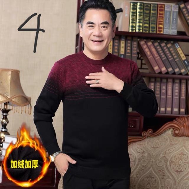 Order- áo len lót nỉ nhung cho nam trung niên 40-50t