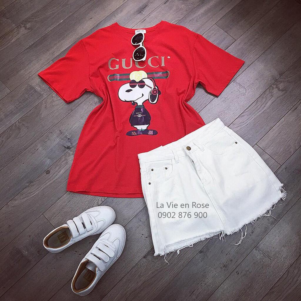 Chân váy jean trắng