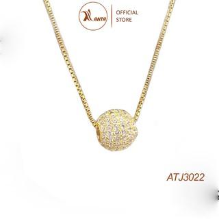 Dây chuyền bạc Ý 925 Quả Cầu Đá Lấp Lánh - Trang Sức ANTA Jewelry AT3022B