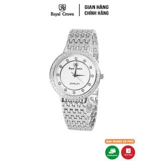 [Mã FARSBR153 giảm 15% đơn 150K] Đồng hồ nam chính hãng Royal Crown 3650 dây thép