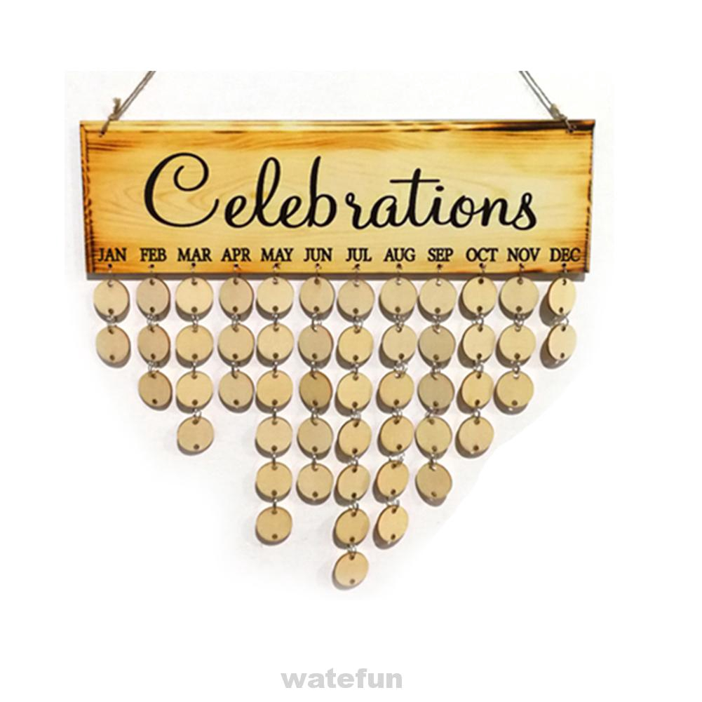 Anniversary Home Wood Wall Hanging Party Decor Plaque Birthday Calendar