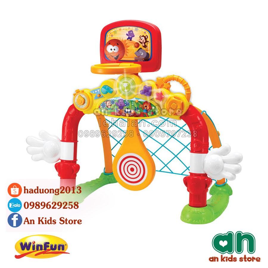 Cột lưới ném/thả bóng 4in1 Winfun 6001 - Hàng chính hãng