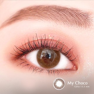 [TẶNG KÈM QUÀ] Lens nâu tự nhiên MY CHOCO - Lens mắt nâu Angel Eyes chất liệu Silicone đường kính 13.5mm - Độ cận 0-8 thumbnail