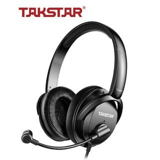 [ CHĨNH HÃNG ] Tai nghe kiểm âm TÂKSTAR TS-450M gaming, thu âm, telesale có mic nói chuyên nghiệp
