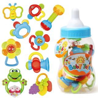 Infant Rattle Teething Baby Toys With Bottle Storage Shake And GRAP Baby Hand