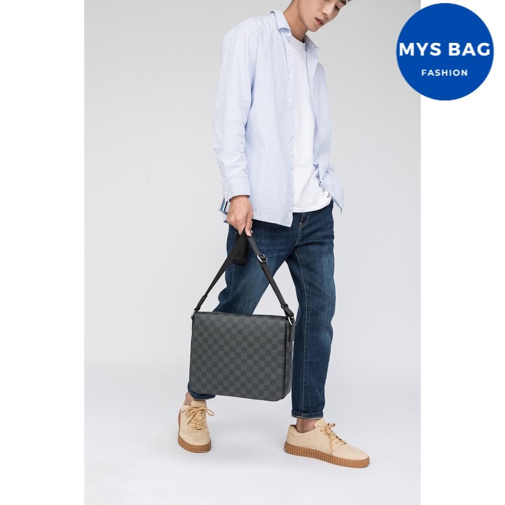 Túi bao tử nam 0016] túi đeo chéo nam caro lớn  [CHỈ 1 NGÀY] túi nam nhiều ngăn đựng vừa IPAD A4 ĐI LẠI Mys Bag