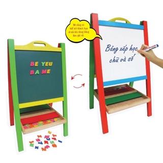 Bảng xếp học chữ bằng gỗ cho bé