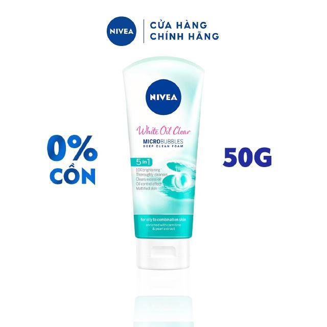 Sữa rửa mặt NIVEA White Oil Clear giúp trắng da sạch nhờn (50g) – 84950