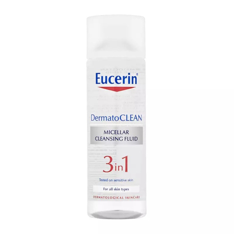 [DERMATO CLEAN] Eucerin Nước tẩy trang Dermato Clean Micellar Cleansing Fluid 3 in1 200ml
