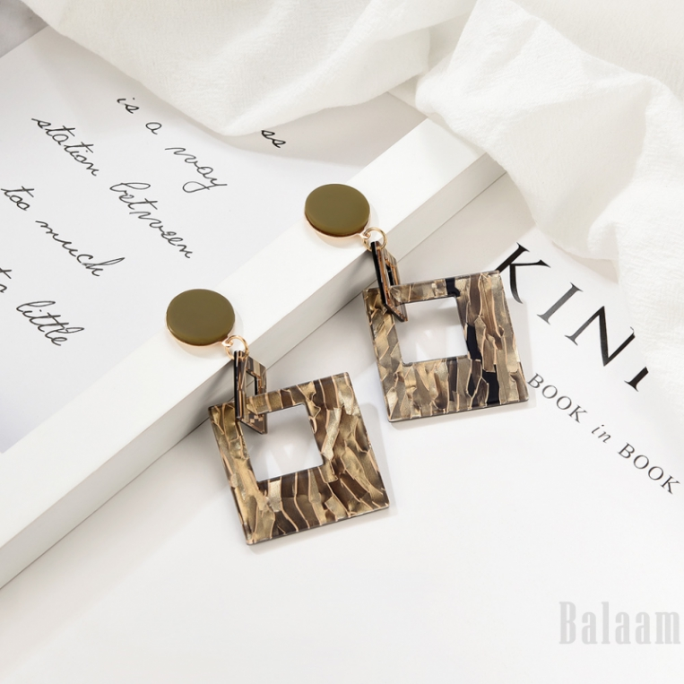 Balaam Fashion geometric multicolor earrings resin jewelry