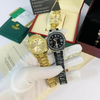 [Tặng Hộp Hãng] Đồng hồ nữ Rolex mặt tròn đính đá sang trọng dây kim loại cao cấp DHN609 thumbnail