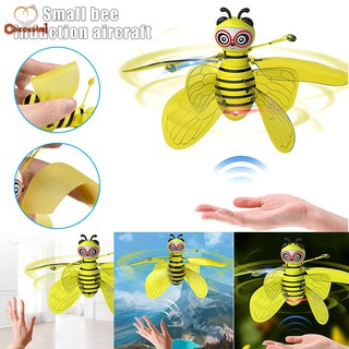 C✞ Mini Flying Ball Bee Aircraft Infrared Induction Helicopter with Lighting Toy