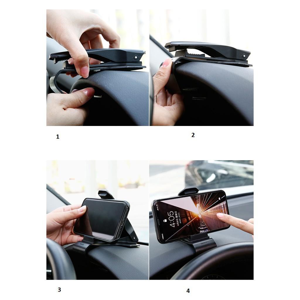 Giá đỡ điện thoại kẹp taplo Ô tô chính hãng Baseus Khôi Nguyên Auto