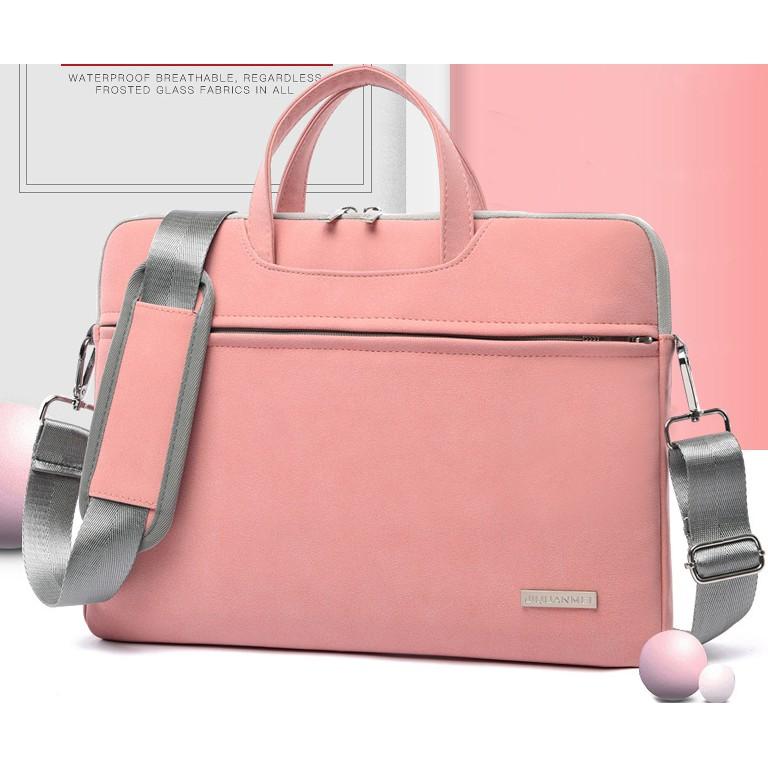 Túi chống sốc laptop, macbook 13inch, 14inch, 15.6inch da PU chống nước tặng kèm túi nhỏ