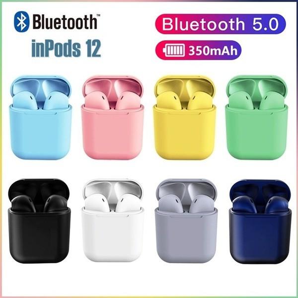 Tai nghe bluetooth I12 tích hợp hộp sạc sử dụng chế độ rảnh tay tiện dụng