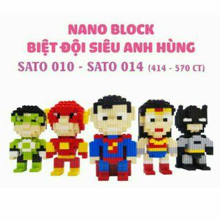 Bộ xếp hình Nano Block – Biệt đội Siêu anh hùng