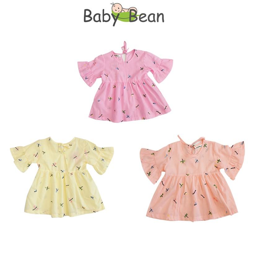 Áo xô thêu bé gái Baby Bean