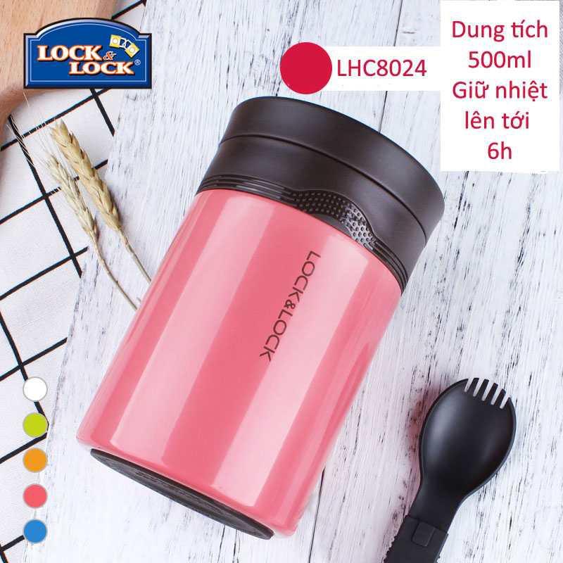 Bình Giữ Nhiệt Ủ Cháo Lock&Lock Wave Food Jar 500ml