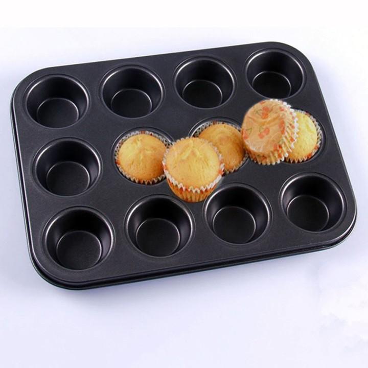 Khuôn bánh cupcake 12 ô - Mold Muffin