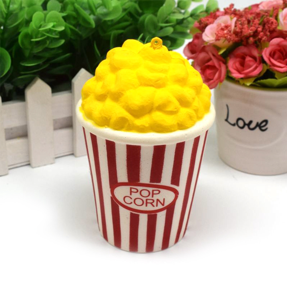 Squishy Cute Simulate Slow Springback Popcorn Bucket Squeeze Decompression Props