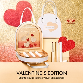 Hình ảnh Set 3 Son Rouge Slim Lì Perfect Diary Màu Đậm Chất Lượng Cao Valentine's Edition 2.4g-3