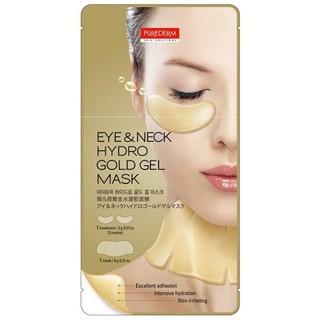 Mặt Nạ Kép Hydro Mắt Và Cổ Tinh Chất Vàng Purederm Eye & Neck Hydro Gold Gel Mask (2g+9g) thumbnail