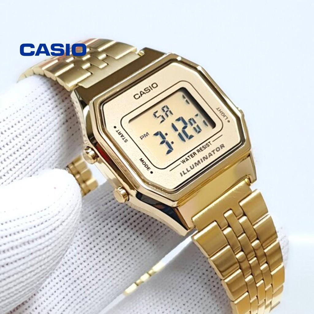 Đồng hồ nữ CASIO LA680WGA-9DF chính hãng - Bảo hành 1 năm, Thay pin miễn phí