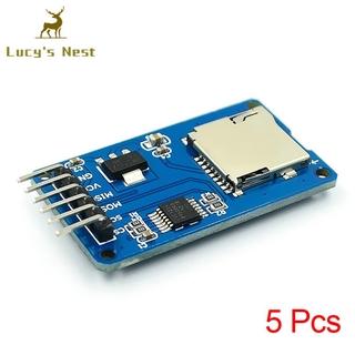 Set 5 Đầu Đọc Thẻ Nhớ Micro Sdhc Mini Tf Cho Arduino