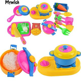 👶🏼17Pcs Baby Early Educational Tool Simulation Kitchenware Tableware Toys