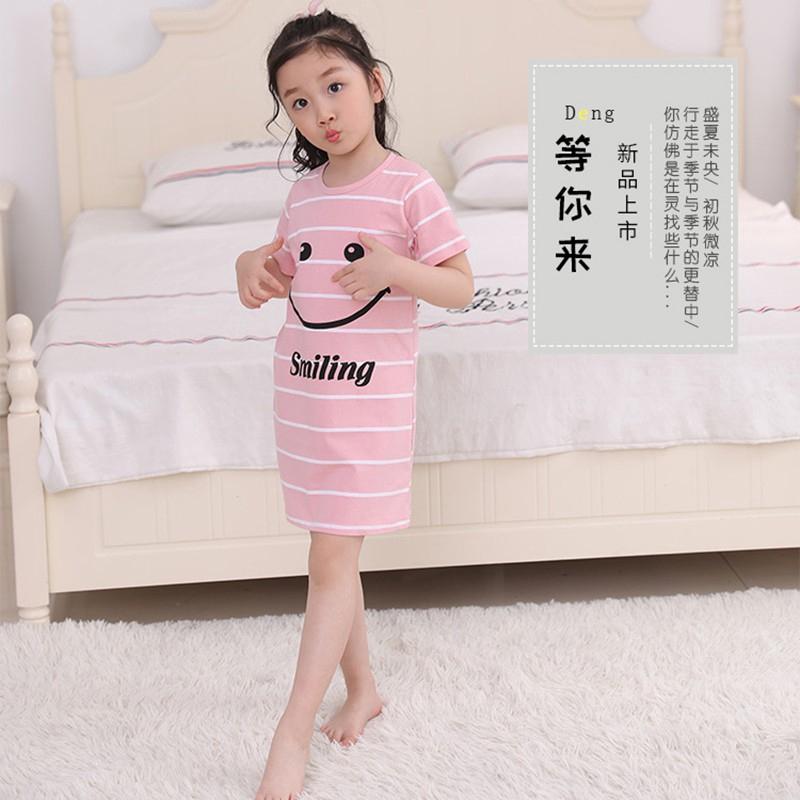 Đầm Ngủ 100% Cotton Họa Tiết Hoạt Hình Xinh Xắn Dành Cho Nữ