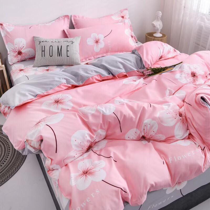 [GIÁ HỦY DIỆT] set chăn ga gối poly cotton nhập mẫu hoa hồng [LucoStore]