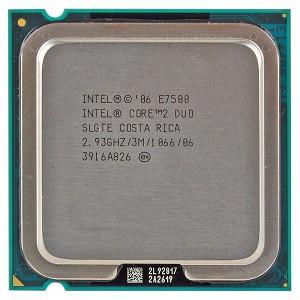 CPU CORE 2 DUO E7500 chưa fan
