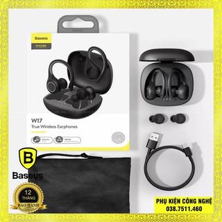 Tai Nghe Baseus W17 True Wireless Earphone Chống Thấm Nước Ip55, Cảm Ứng Thông Minh Kèm Dock Sạc Không Dây