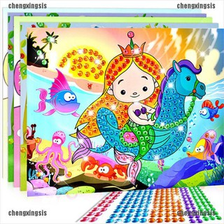 CXJJ 5D Diamond Embroidery Kids Painting Kit Mosaic Learning Educational Puzzles Cartoon DIY Gift[VN]