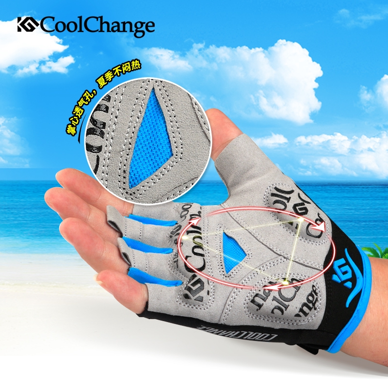 gloves✣❈Cool Bike gloves short finger spring summer mountain men and women breathable shock absorber equipment riding h