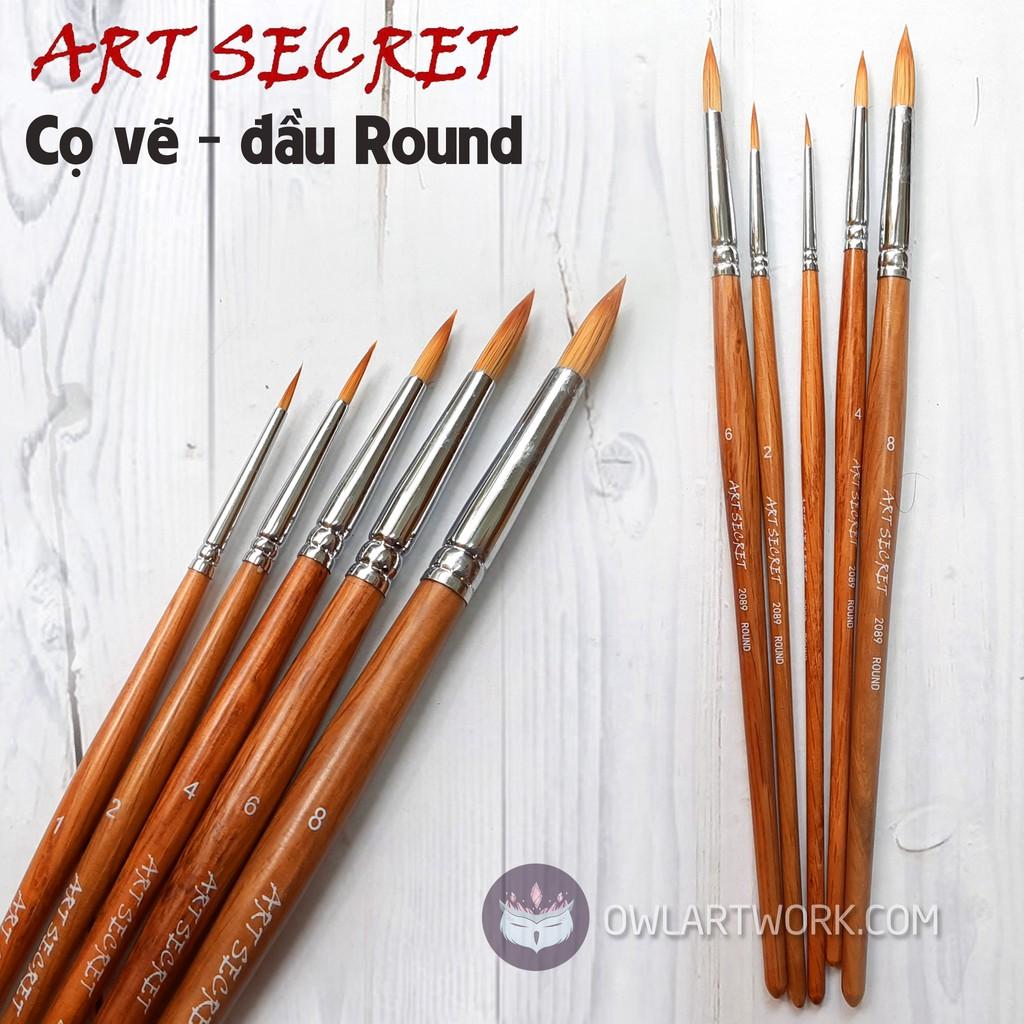 [CHÍNH HÃNG] Cọ Vẽ Màu Nước Đầu Tròn Art Secret