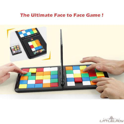 ☛☏❤Colorful Magic Block Toy Rubiks Race Puzzle Blocks Interaction