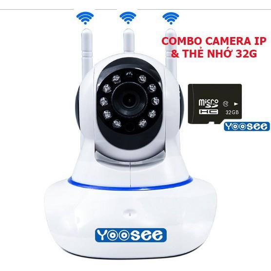 Camera YooSee 3 Anten Siêu Nét HD720 + thẻ nhớ 32gb